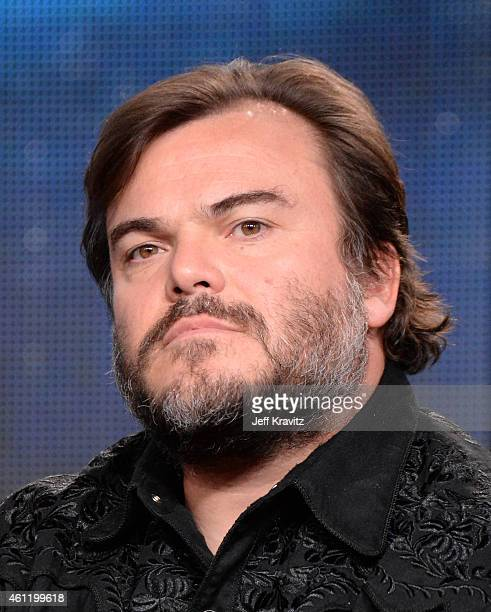 Actor Jack Black listens onstage to a question from the media audience during The Brink panel as part of the 2015 HBO Winter Television Critics...