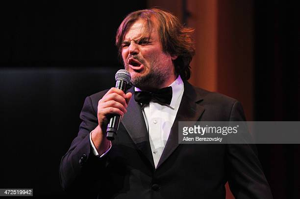Actor Jack Black performs onstage during the Poetic Justice 2015 Fundraiser for Coalition for Engaged Education at Herb Alpert Educational Village on...