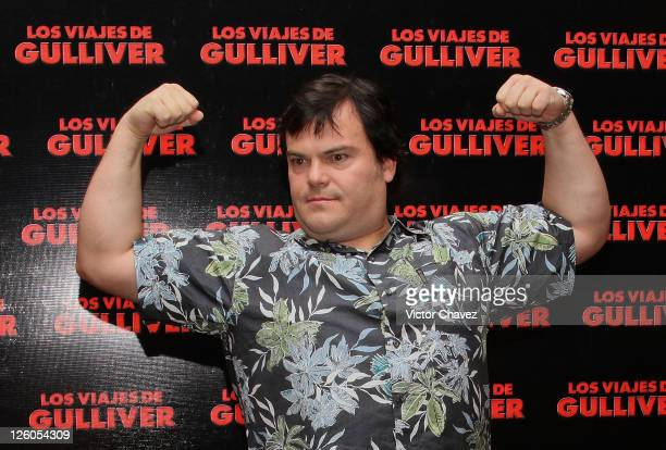 Actor Jack Black poses during the 'Gulliver's Travels' photocall at Four Seasons Hotel on December 13 2010 in Mexico City Mexico