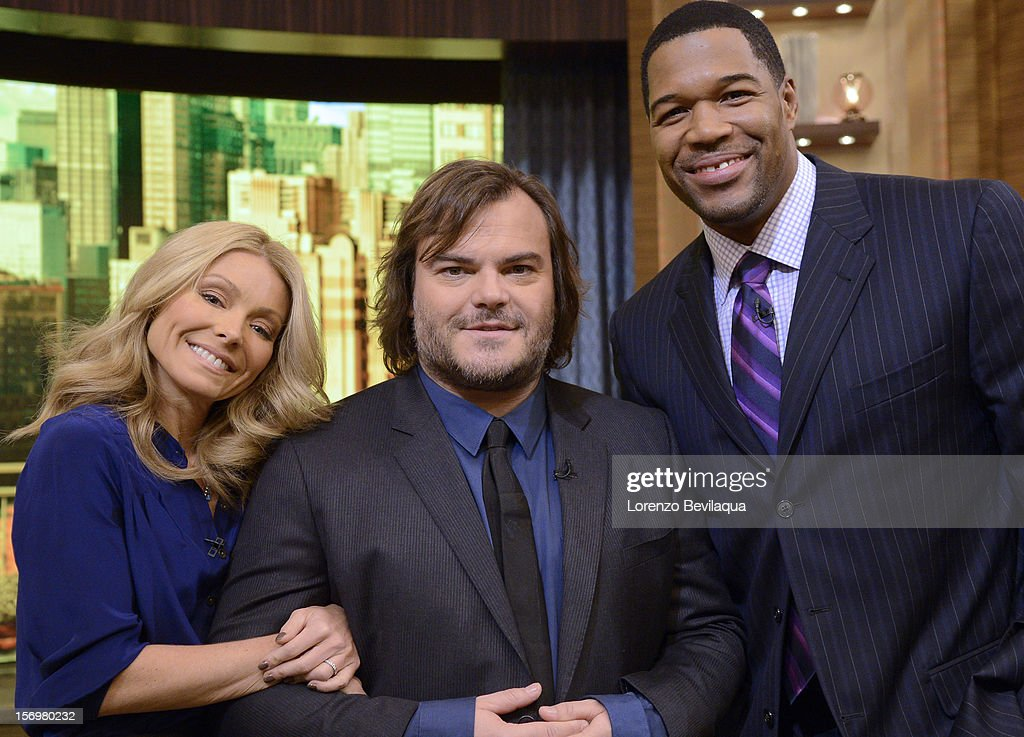 MICHAEL -11/26/12 - Actor Jack Black stops by the newly-rechristened syndicated talk show, LIVE with Kelly and Michael,' distributed by Disney-ABC Domestic Television. KELLY