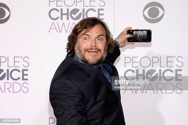 Actor Jack Black takes a selfie at the People's Choice Awards 2016 at Microsoft Theater on January 6 2016 in Los Angeles California