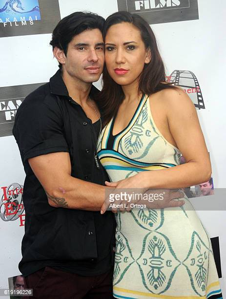 Actor Jack Carlisle and actress Alyssa LeBlanc arrive for the Premiere Of '2 Weeks To Go' held at Laemmle Royal Theatre on October 29 2016 in Santa...