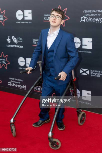 Actor Jack Carroll attends a photocall for the World Premiere of 'Eaten by Lions' during the 72nd Edinburgh International Film Festival at Cineworld...