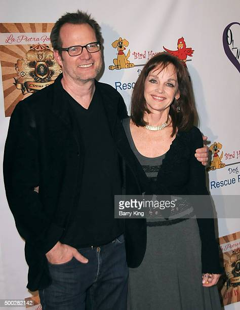 Actor Jack Coleman and actress Pamela Sue Martin attend the fundraising event to save circus animals of Mexico honoring Tippi Hedren and The Roar...