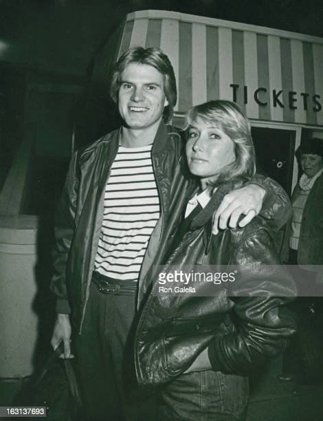 Actor Jack Coleman and Christine Kellogg attending 'PoliceCelebrity Basketball Game' on February 26 1983 at the Beverly Hills High School in Beverly...