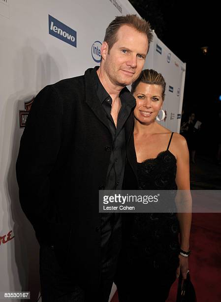 Actor Jack Coleman and wife Beth Toussaint arrive at Hollywood Entertainment Museum Honors The Cast Of Heroes held at the Esquire House on November 1...