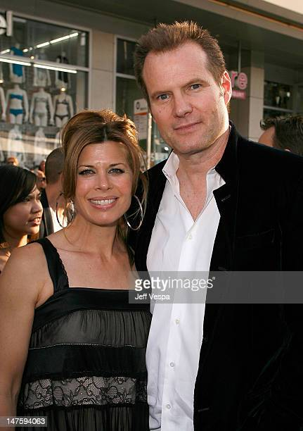 Actor Jack Coleman and wife Beth Toussaint arrive on the red carpet of the Los Angeles premiere of Star Trek at the Grauman's Chinese Theater on...