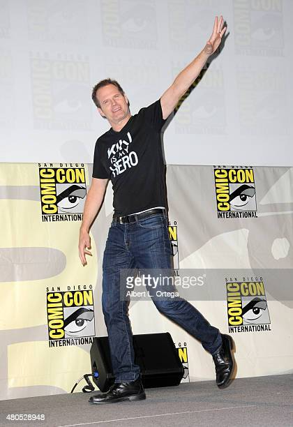 Actor Jack Coleman appears onstage at the 'Heroes Reborn' exclusive extended trailer and panel during ComicCon International 2015 at the San Diego...