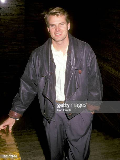 Actor Jack Coleman attends Jane Fonda's Party for U2 on November 21 1987 at Jane Fonda's Malibu Home in Malibu California