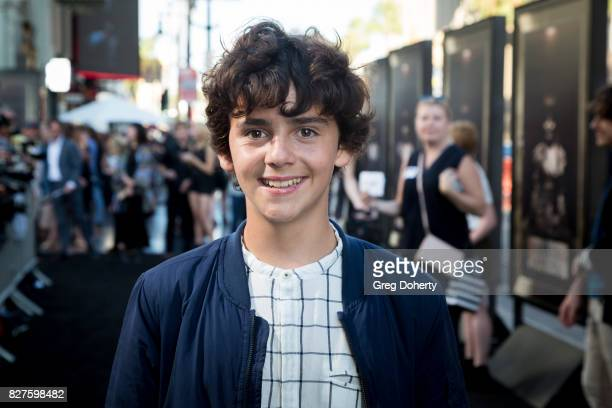 Actor Jack Dylan Grazer arrives for the Premiere Of New Line Cinema's 'Annabelle Creation' at the TCL Chinese Theatre on August 7 2017 in Hollywood...