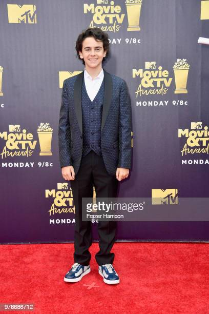 Actor Jack Dylan Grazer attends the 2018 MTV Movie And TV Awards at Barker Hangar on June 16 2018 in Santa Monica California