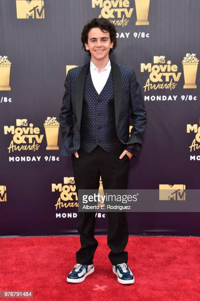 Actor Jack Dylan Grazer attends the 2018 MTV Movie And TV Awards at Barker Hangar on June 16 2018 in Santa Monica California
