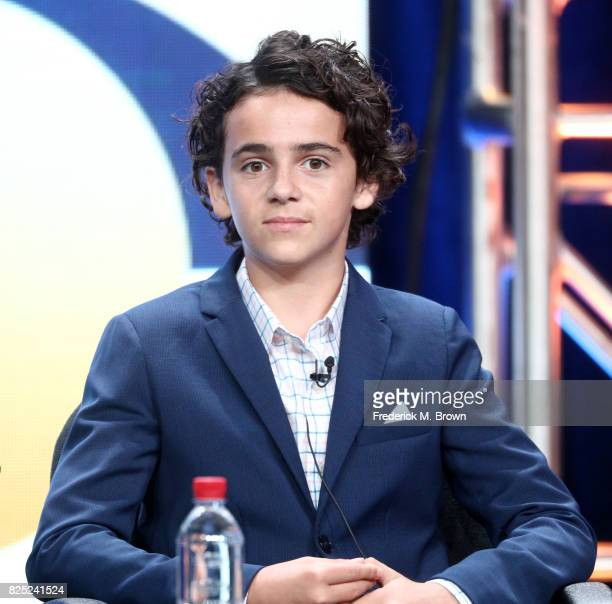 Actor Jack Dylan Grazer of 'Me Myself I' speaks onstage during the CBS portion of the 2017 Summer Television Critics Association Press Tour at The...