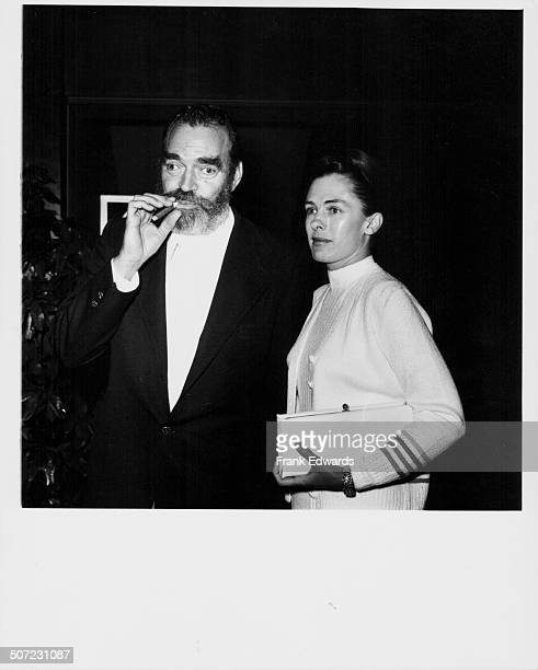 Actor Jack Elam and his wife attending an ABC Television party at Century Plaza Hotel Los Angeles CA May 10th 1974
