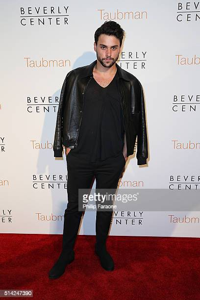 Actor Jack Falahee attends An Icon Reimagined open ceremony at The Beverly Center on March 7 2016 in Los Angeles California