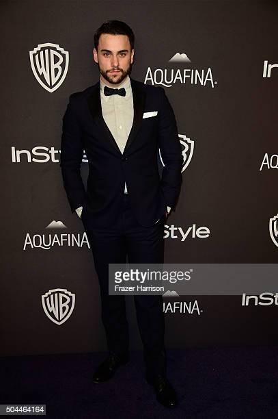 Actor Jack Falahee attends InStyle and Warner Bros 73rd Annual Golden Globe Awards PostParty at The Beverly Hilton Hotel on January 10 2016 in...