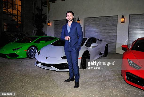 Actor Jack Falahee attends the global debut of the Huracan RWD Spyder hosted by Lamborghini on November 15 2016 in Pacific Palisades California