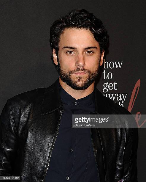 Actor Jack Falahee attends the season 3 premiere of 'How To Get Away With Murder' at Pacific Theatre at The Grove on September 20 2016 in Los Angeles...
