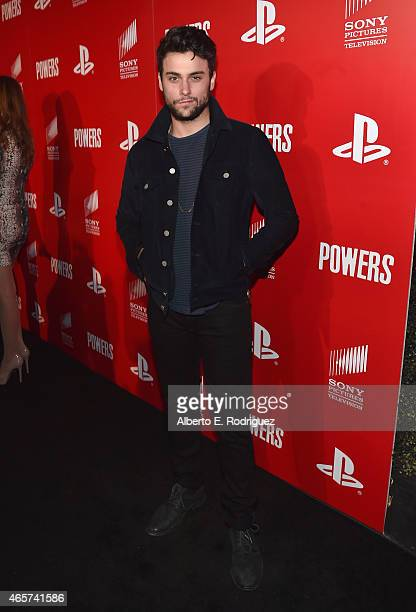 Actor Jack Falahee attends the series premiere of Sony Television's 'Powers' at Sony Pictures Studios on March 9 2015 in Culver City California