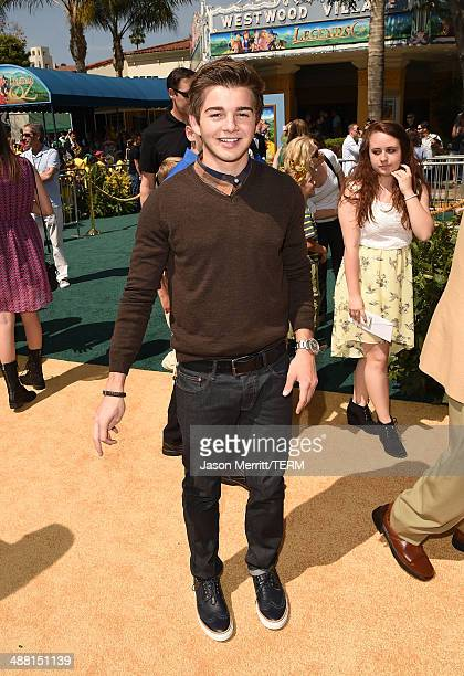 Actor Jack Griffo attends the premiere of 'Legends Of Oz Dorthy's Return' at Regency Village Theatre on May 3 2014 in Westwood California