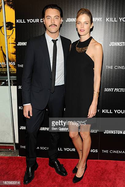 """Actor Jack Huston and girlfriend Shannan Click attend The Cinema Society and Johnston & Murphy host a screening of Sony Pictures Classics' """"Kill Your..."""