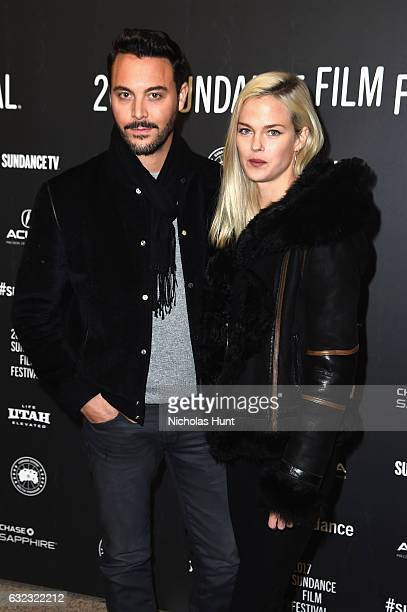 Actor Jack Huston and Shannan Click attend 'The Yellow Birds' premiere on day 3 of the 2017 Sundance Film Festival at Eccles Center Theatre on...