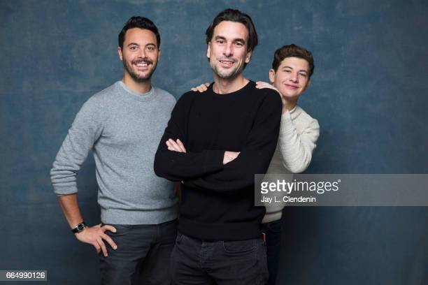 Actor Jack Huston director Alexandre Moors and actor Tye Sheridan from the film 'Yellow Birds' are photographed at the 2017 Sundance Film Festival...