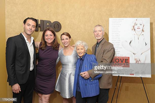 Actor Jack Huston Director Liz Garbus actress Lili Taylor Film subject and friend of Marilyn Amy Greene and Actor Stephen Lang attend the HBO...