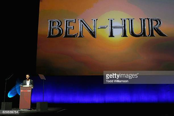 Actor Jack Huston speaks onstage during the CinemaCon 2016 Gala Opening Night Event: Paramount Pictures Highlights its 2016 Summer and Beyond Films...