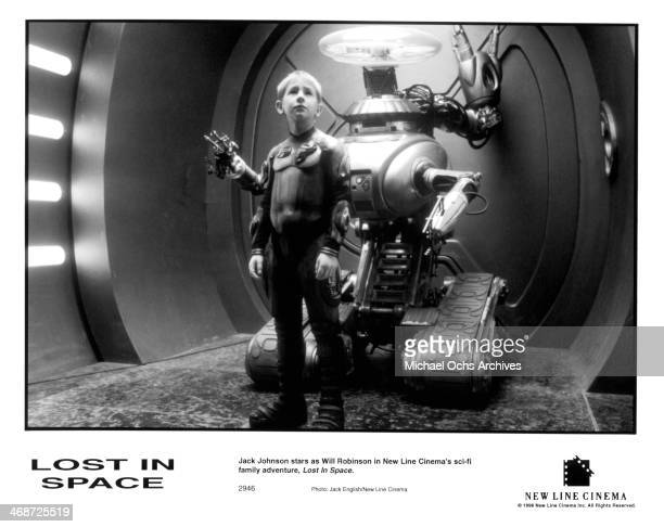 Actor Jack Johnson on set of the New Line Cinema movie ' Lost in Space ' circa 1998