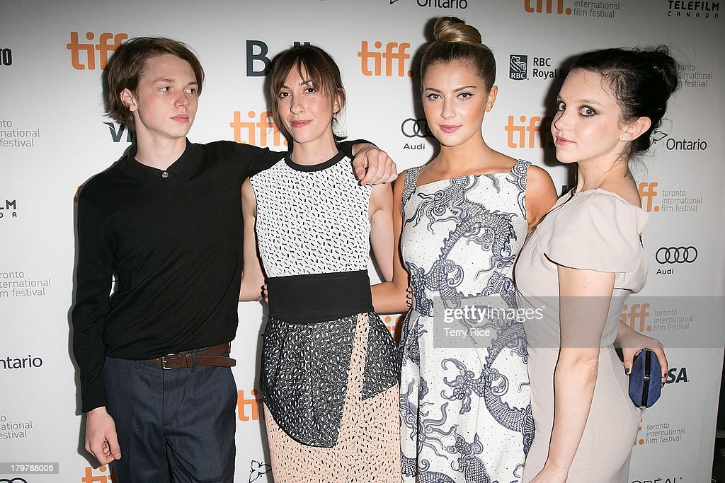 Actor Jack Kilmer, director Gia Coppola, Zoe Levin, and Claudia Levy arrive at the 'Palo Alto' premiere during the 2013 Toronto International Film Festival at Scotiabank Theatre on September 6, 2013 in Toronto, Canada.