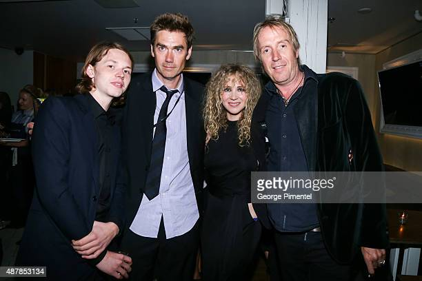 Actor Jack Kilmer director Tim Godsall and actors Juno Temple and Rhys Ifans attend the 'Len and Company' Party during the 2015 Toronto International...