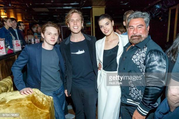 Actor Jack Kilmer Editor in Chief of Flaunt Magazine Matthew Bedard director Eva Doležalová and Luis Barajas attend an event where Flaunt Presents a...