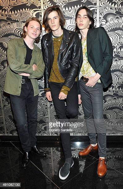 Actor Jack Kilmer model Dylan Brosnan and actor Charlie Wright attend Teen Vogue Celebrates the 13th Annual Young Hollywood Issue with Emporio Armani...