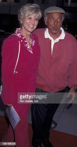 Actor Jack Klugman and Peggy Crosby attend the premiere of '12 Angry Men' on July 11 1997 at the Academy Theater in Beverly Hills California