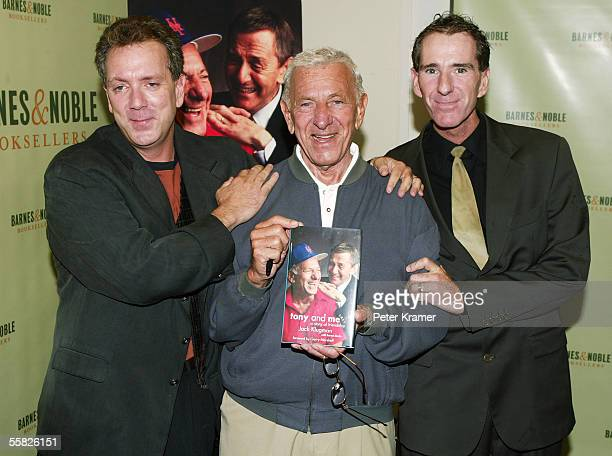 Actor Jack Klugman and sons Adam Klugman and David Klugman sign copies of Jack's new book 'Tony and Me' at Barnes and Noble on September 29 2005 in...