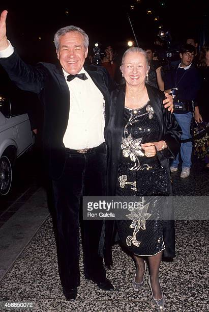 Actor Jack Larson and actor Noel Neill attend Glitter and Be Giving Fine Jewelry Auction to Benefit amfAR and amfAR's First Award of Courage Salute...