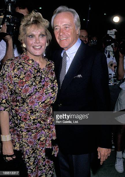 Actor Jack Lemmon and wife Felicia Farr attend the Betrayed Beverly Hills Premiere on August 23 1988 at the Academy of Motion Picture Arts and...