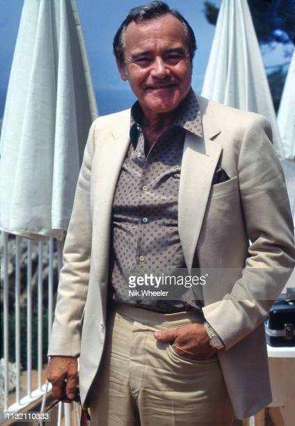 Actor Jack Lemmon at the Hotel du Cap during the Cannes Film Festival circa 1980