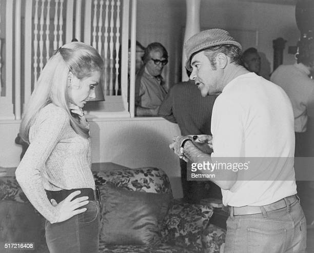 Actor Jack Lemmon directs his wife Felicia Farr for a scene in the film Kotch Filmed March 1971