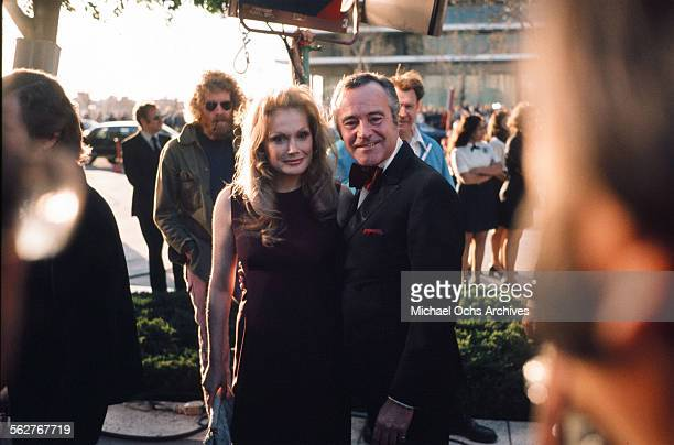 Actor Jack Lemmon with wife actress Felicia Farr arrive to the 46th Academy Awards at Dorothy Chandler Pavilion in Los AngelesCalifornia