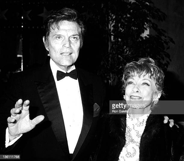Actor Jack Lord and Gloria Berlin attend 13th Annual American Film Institute Lifetime Achievement Awards Honring Gene Kelly on March 7 1985 at the...