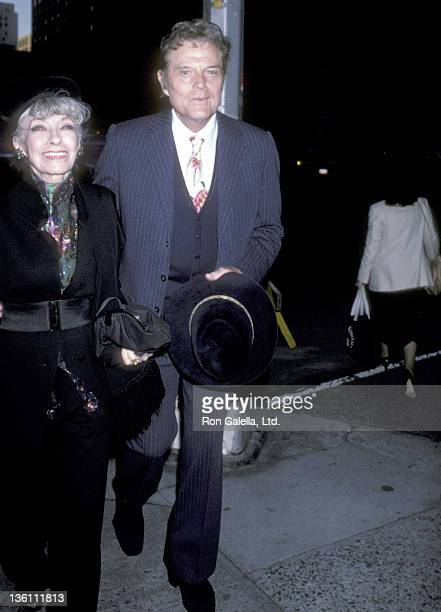 Actor Jack Lord and wife Marie Denarde on October 27 1985 leave The Regency Hotel in New York City