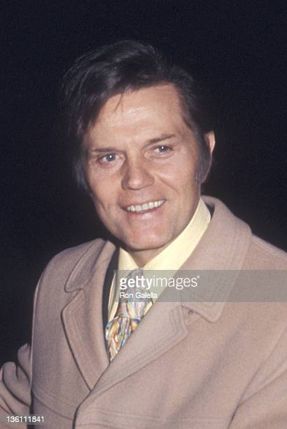 Actor Jack Lord on January 19 1972 at the CBS Television City for a taping of 'Hawaii FiveO' in Los Angeles California