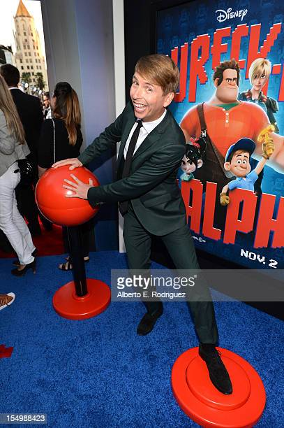 Actor Jack McBrayer arrives at Walt Disney Animation Studios' WreckIt Ralph premiere at the El Capitan Theatre on October 29 2012 in Hollywood...