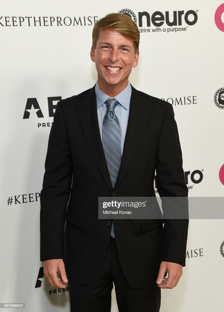 Actor Jack McBrayer celebrates Elton John's 70th Birthday and 50-Year Songwriting Partnership with Bernie Taupin benefiting the Elton John AIDS Foundation and the UCLA Hammer Museum at RED Studios Hollywood on March 25, 2017 in Los Angeles, California.