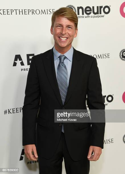 Actor Jack McBrayer celebrates Elton John's 70th Birthday and 50Year Songwriting Partnership with Bernie Taupin benefiting the Elton John AIDS...