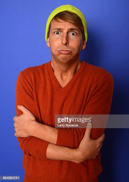 Actor Jack McBrayer poses for a portrait during the 2014 Sundance Film Festival at the WireImage Portrait Studio at the Village At The Lift Presented...