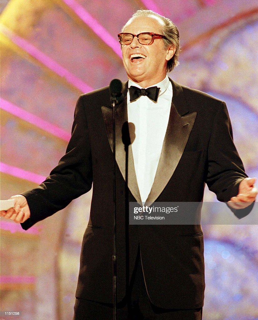 Actor Jack Nicholson accepts the Cecil B. Demille Award for lifetime achievement during the 56th annual Golden Globe awards in Beverly Hills,CA January 24, 1999.