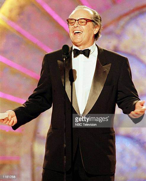 Actor Jack Nicholson accepts the Cecil B Demille Award for lifetime achievement during the 56th annual Golden Globe awards in Beverly HillsCA January...